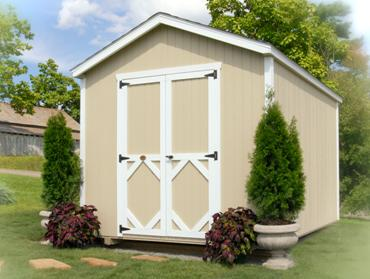 Wood Classic Gable Shed Kit by Little Cottage